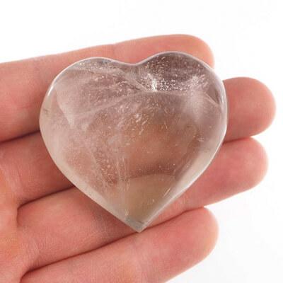 Kryształ górski - serca