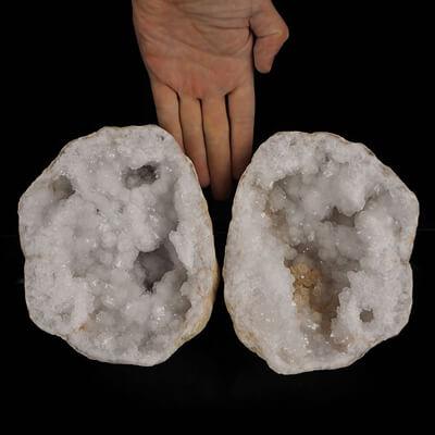 Kryształ górski - geody